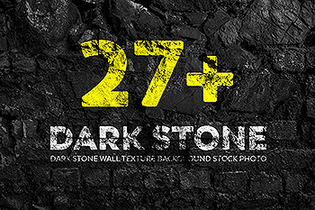 27+深黑石墙纹理背景照片素材 Dark Stone Wall Texture Backgrounds Stock Photo