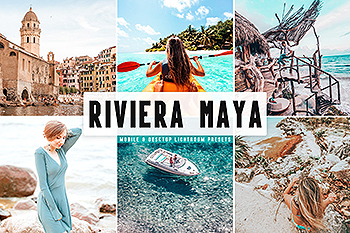 明亮/柔和/褪色自然多彩色调Lightroom预设 Riviera Maya Mobile & Desktop Lightroom Presets