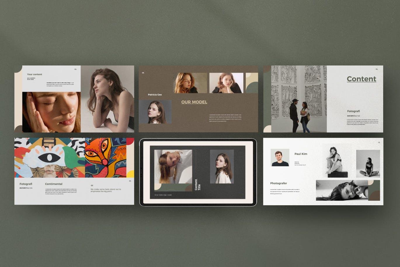 优雅时尚高端专业的高品质keynote幻灯片演示模板(key)设计素材模板