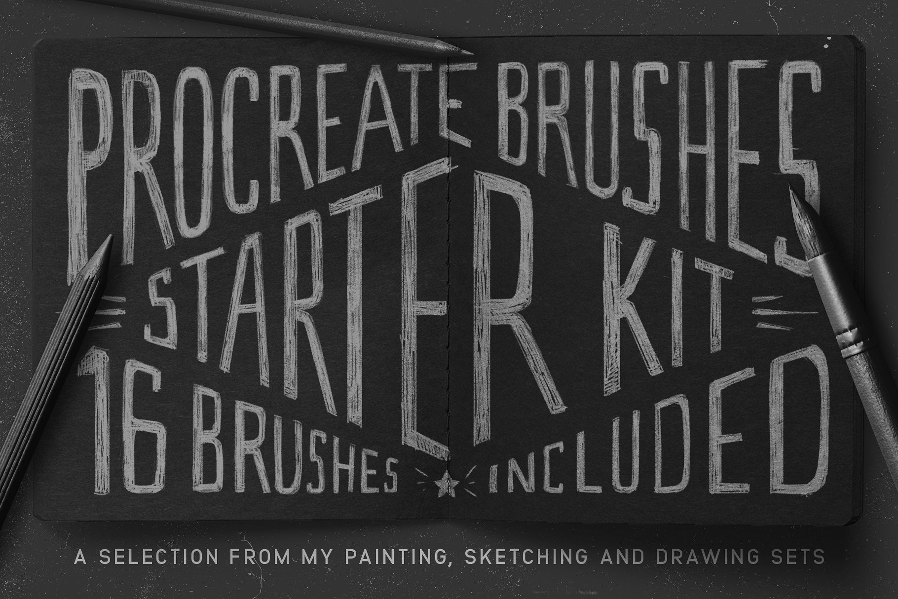 肌理笔刷下载 Procreate Brushes Starter Kit设计素材模板