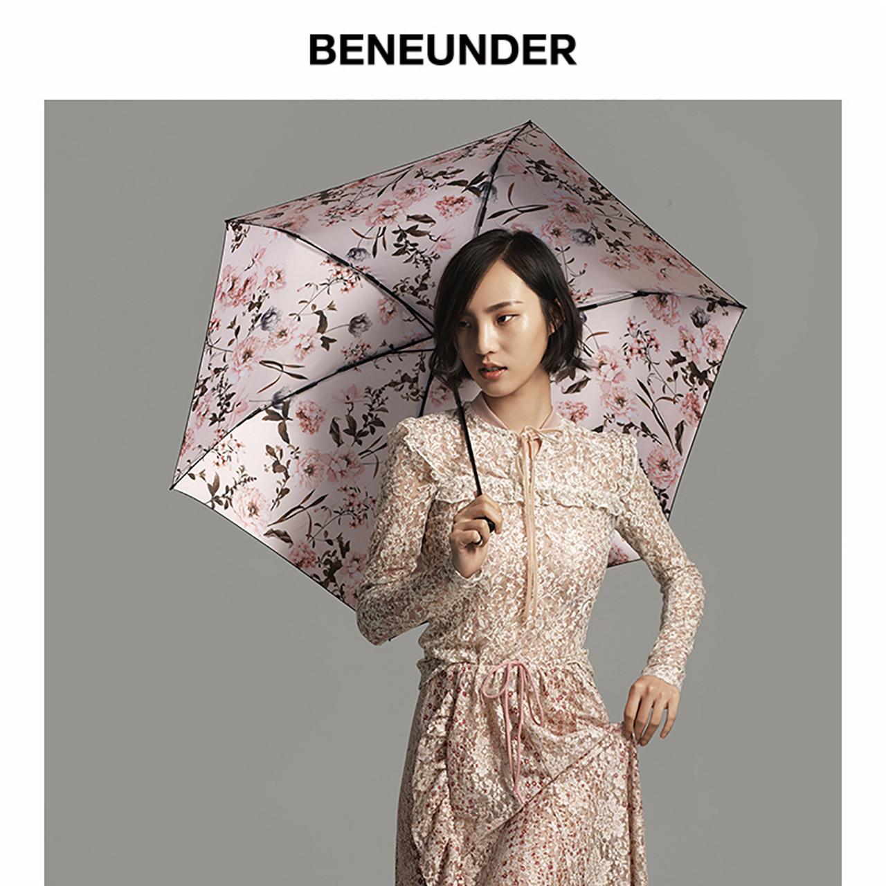 99%紫外线阻隔:伞中宝马 蕉下 洛花系列 花球三折晴雨伞