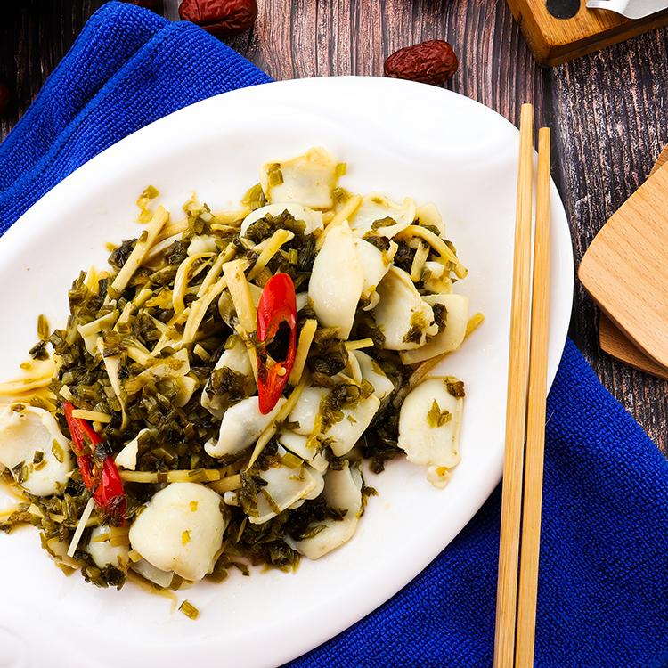 江大厨雪菜烧鱿鱼(盆菜)325g+25g
