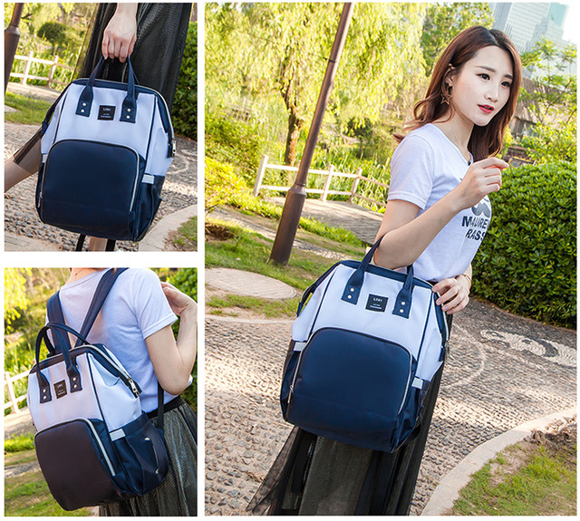 Fashion mom bag multi-functional large-capacity mother and baby bag double shoulder mother bag 2019 new Bao mom backpack maternity