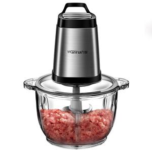 万锐绞肉机家用电动小型不锈钢打馅碎菜多功能搅拌料理辣椒蒜泥器