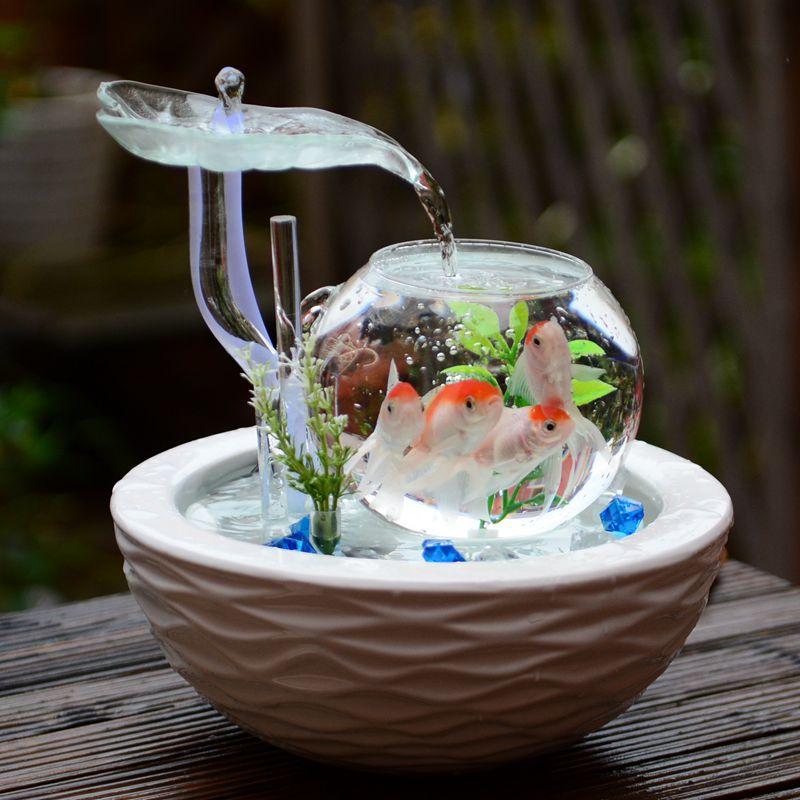 流水器摆设生日创意实用礼物办公室桌面小摆件家居装饰品手工艺品