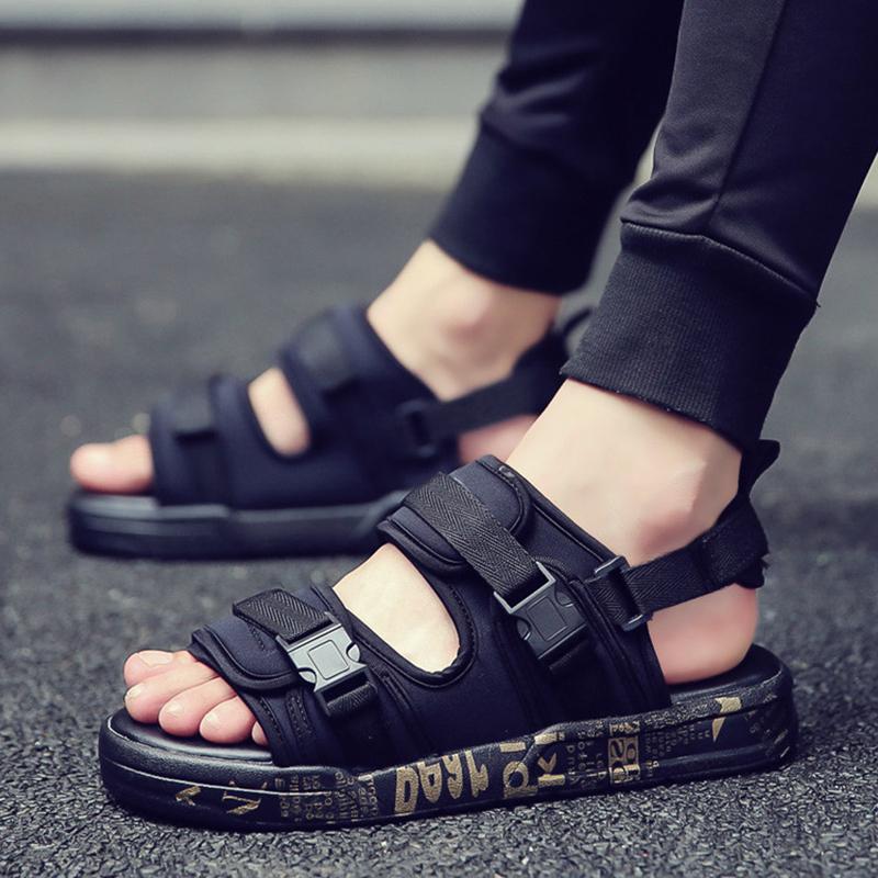 Босоножки детские Мальчики обувь сандалии лета 2018 года новая детская мужская 12 корейская версия прилив большой мальчик студент мальчик на пляже 15-летний