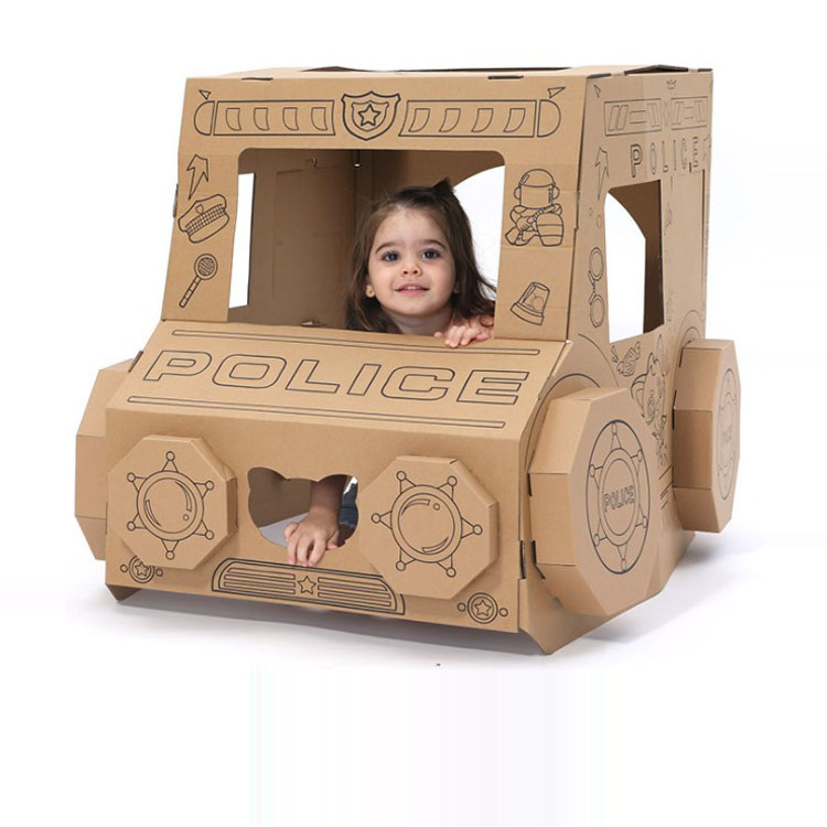 ins explosion models children play house toys DIY Hut assembled model graffiti cardboard parent-child interactive dollhouse