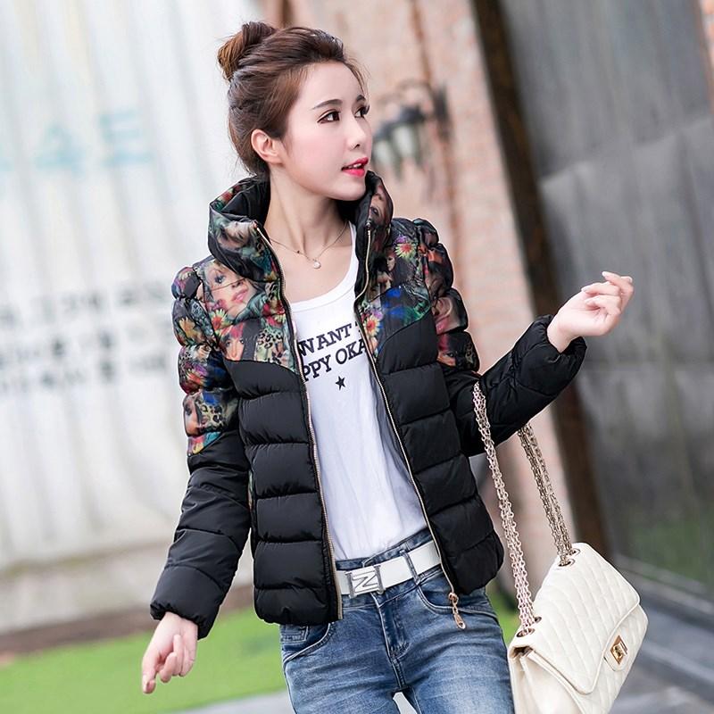 Áo khoác chống mưa nữ mùa đông Thời trang Hàn Quốc mỏng ngắn quần áo cotton nữ dày áo khoác cotton