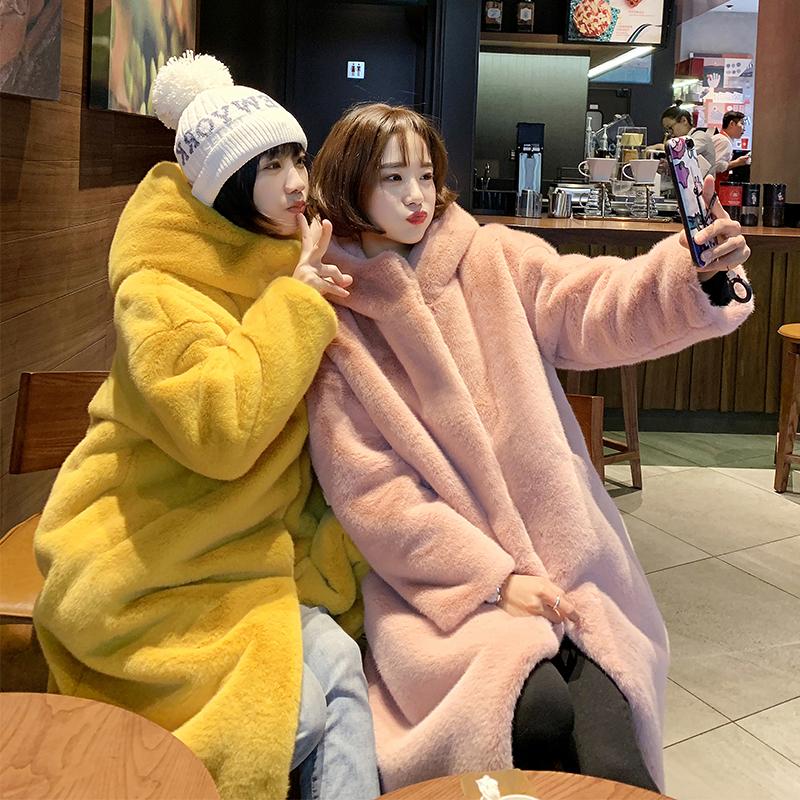 Рекс шуба пальто женщина 2019 новый зима у минка elmo пальто длина большой код молодой модель 598921586556