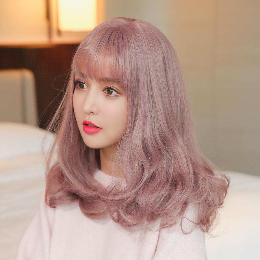 Usd 4432 Wig Beautiful Air Bangs Long Curly Hair Simulation Big