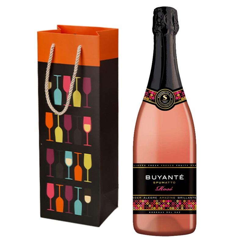 原瓶进口桃红玫瑰起泡红酒葡萄酒