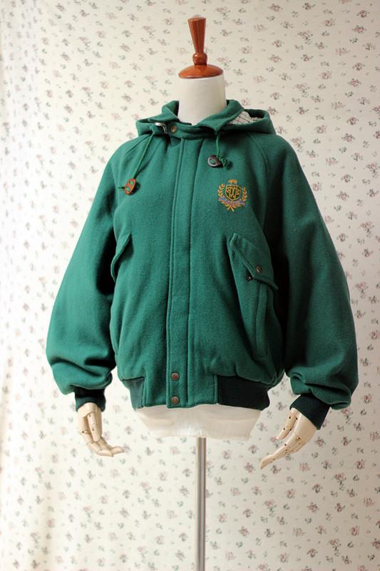 Vải len cổ điển Nhật Bản đường phố đại học rừng xanh punk punk bóng chày đồng phục áo khoác - Accentuated eo áo