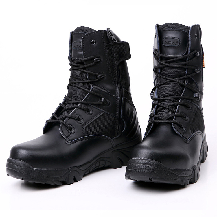 Men's Military Tactical Boots Leather Waterproof Police ... - photo #30