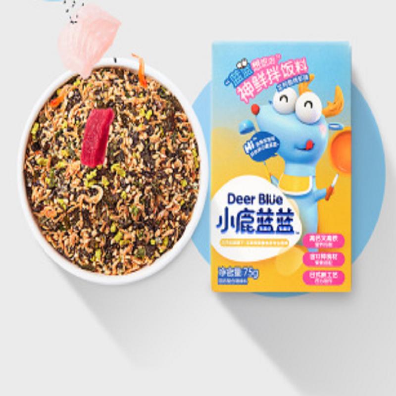 【小鹿蓝蓝_神鲜拌饭料】宝宝添加料小虾调味送婴幼儿辅食食谱
