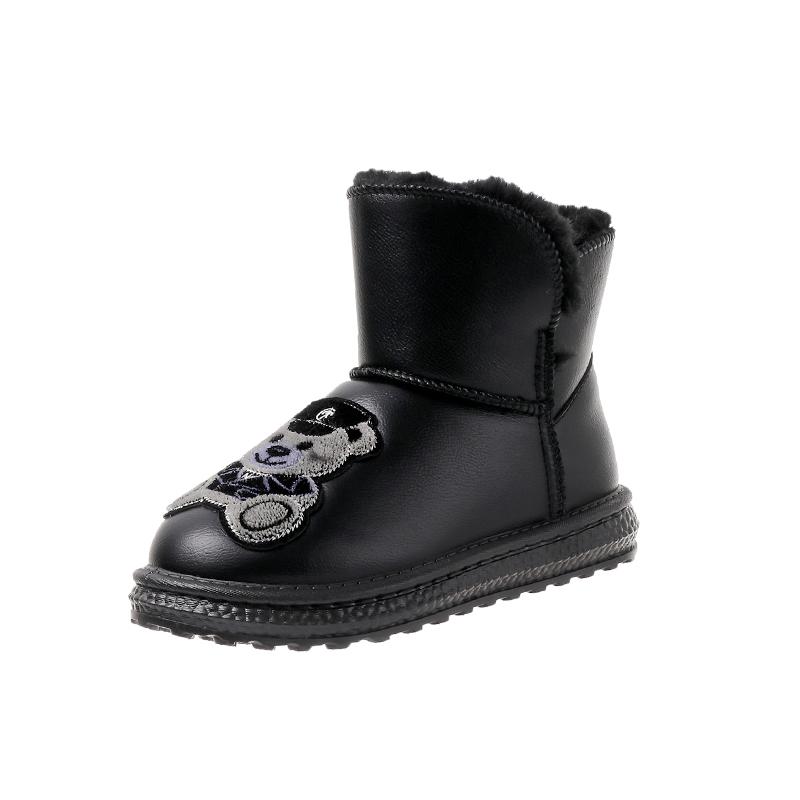 网红雪地靴女加绒加厚2020新款保暖棉鞋女冬季学生一脚蹬防滑女鞋