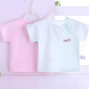 新生儿衣服婴儿提花短袖T恤夏季