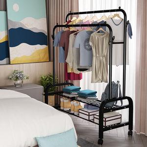 居家日用衣架落地卧室折叠晾衣架