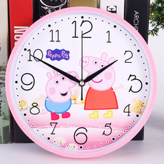 Mute cartoon wall clock living room bedroom children's room clock cartoon mickey hanging table cute clock quartz clock