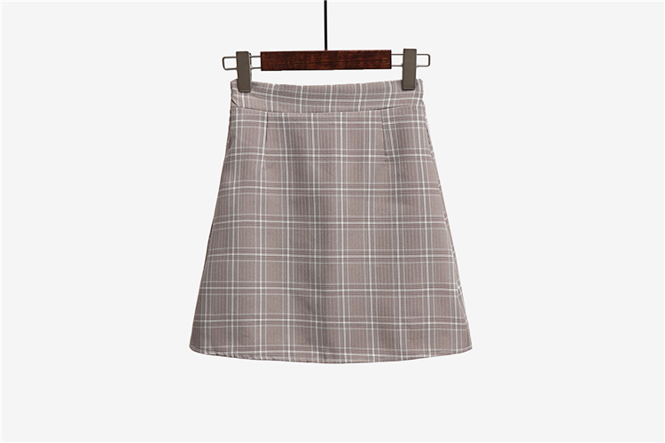 Leisure College Wind High Waist Skirt Women's Skirts Casual Ladies Kawaii Ulzzang Female Korean Vintage Clothing For Women 9