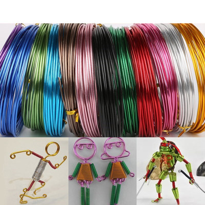 1-2MM color aluminum wire handmade crafts aluminum wire material aluminum wire diy woven bicycle modeling material accessories