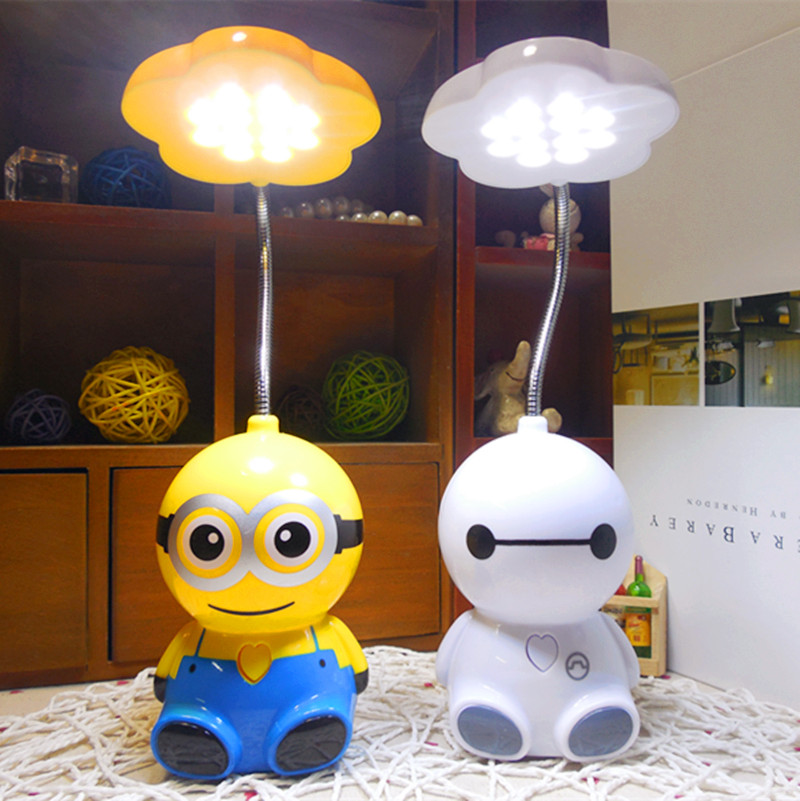 Usd 911 cartoon mini charger small yellow man led table lamp cartoon mini charger small yellow man led table lamp children learning lamp bedroom big white night mozeypictures Image collections