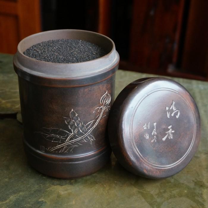 约八十年代六堡茶中 03年筛出的天然虫屎茶 龙珠茶 黑茶500g