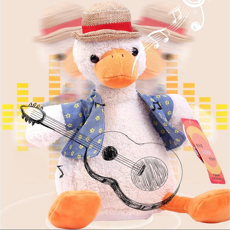 正版沙雕复读鸭怼人会说话的网红玩偶学话鸭子小礼物玩具毛绒公仔