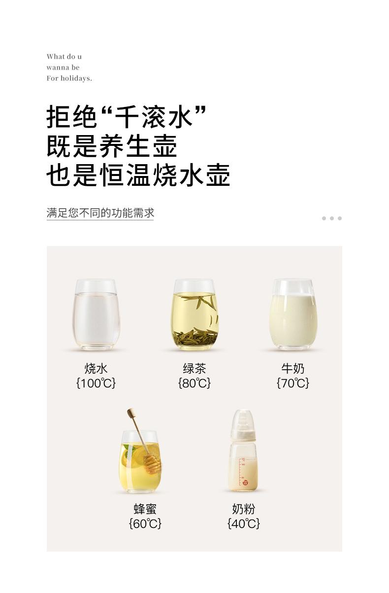 生活元素 多功能全自动养生壶 煮茶器 高硼硅玻璃杯身 1.5L 图9