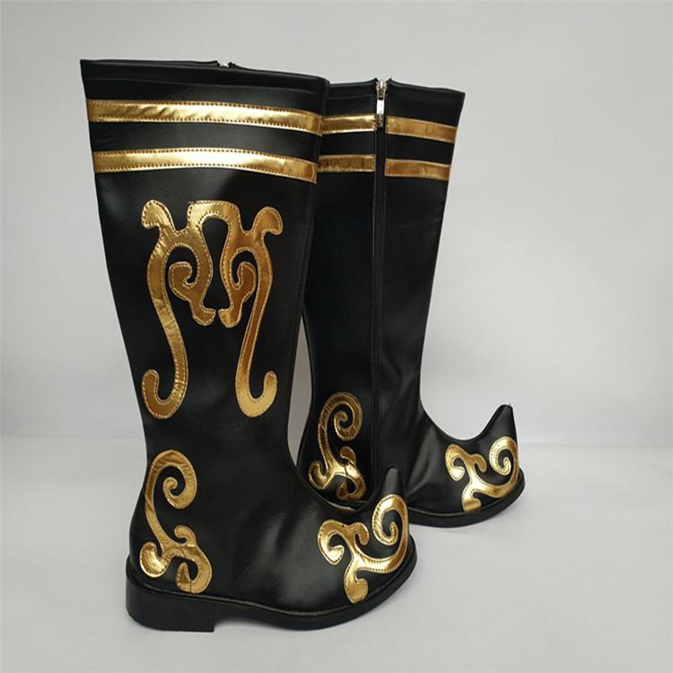 US $42.41 15% OFF|Schwarz mongolei stiefel chinesischen nationalen stiefel mongolei tanz stiefel alte chinesische stiefel festival schuhe alte