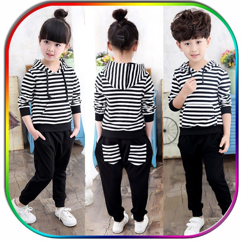 Female children's clothing spring and autumn suit 2017 new Korean version of the baby sports two-piece set 123456789 10 11 years old