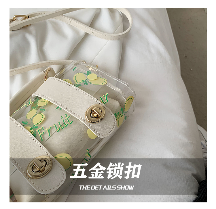 Fashion transparent shoulder messenger portable bag NHTG337759