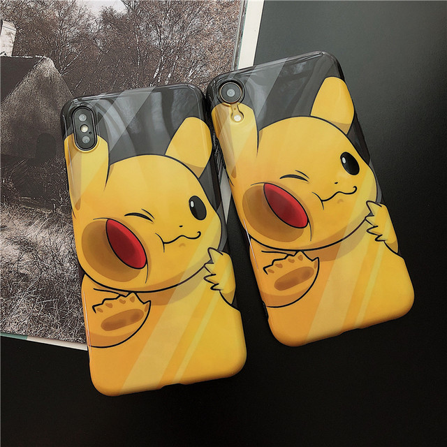 Tide brand anime Pikachu xsmax Apple XR mobile phone shell iPhone11 soft cover 8plus cartoon 7p / 6s male