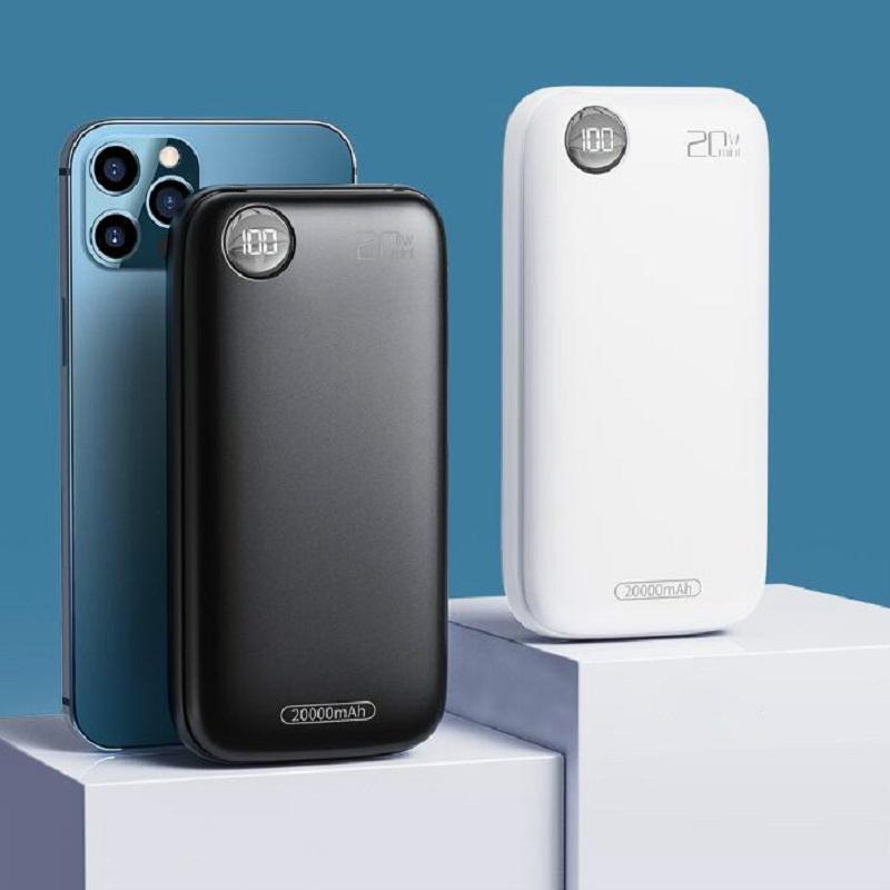 杰力科20000毫安充电宝超大容量PD20w超级快充闪充移动电源原装正品便携适用苹果12华为小米oppovivo手机通用