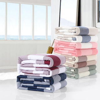New summer non-printed Japanese-style good quality cotton washed cotton printed summer cool quilt air conditioning quilt spring and autumn thin cotton quilt