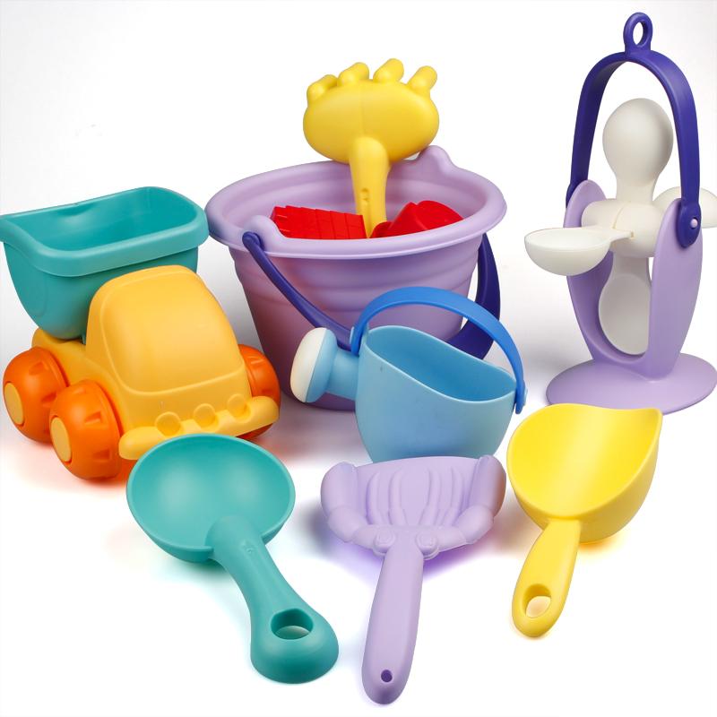 USD 11.70] Soft plastic sand beach toys set child Bath toy child ...