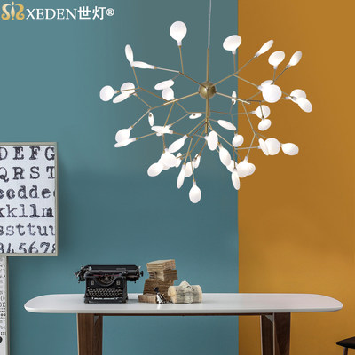 Nordic minimalist firefly chandelier post-modern living room bedroom creative personality restaurant designer tree branch lamp