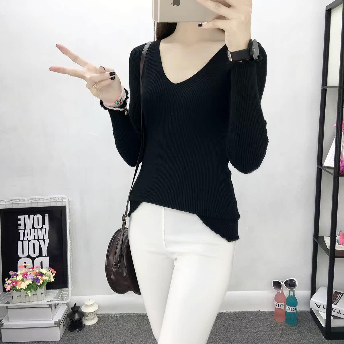 韩版冬套头毛线白色针织衫外套