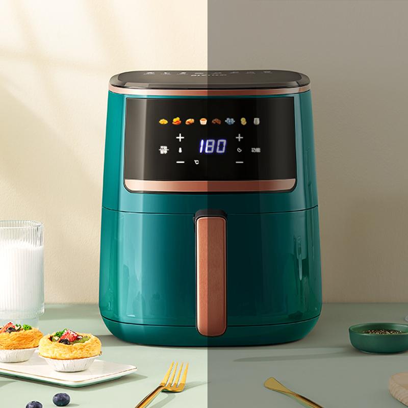比依空气炸锅2021新款全自动多功能家用大容量智能烤箱一体炸锅机