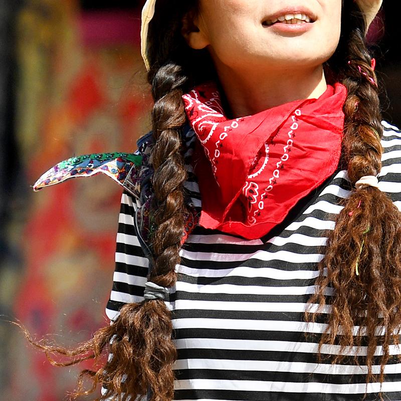 Пекин лес на открытом воздухе квадрат маска для лица защита от ультрафиолетовых лучей многофункциональный полотенце шарф многоцветный хлопок печать нагрудник