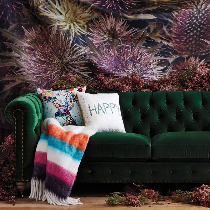 美式乡村新古典沙发简欧田园地中海风格客厅三人绿色丝绒布艺沙发