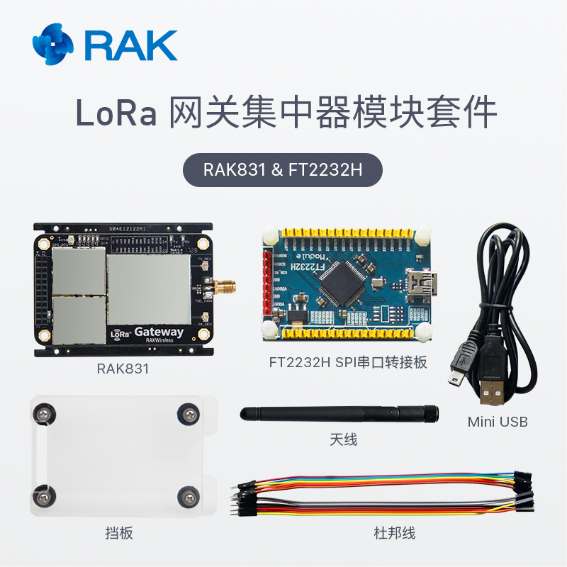 LoRa LoRaWAN gateway concentrator kit RAK831 receiver module spread  spectrum long range SX1301