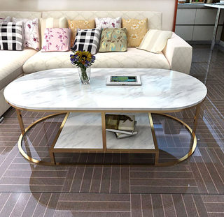 Marble new coffee table simple modern small apartment light luxury side table Nordic living room creative net red small tea table in