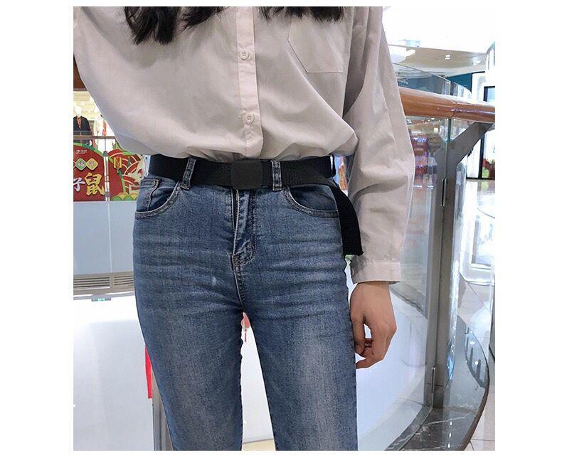 帆布腰带男尼龙编织加长大尺码军训学生青年户外无金属布皮带裤腰带详细照片