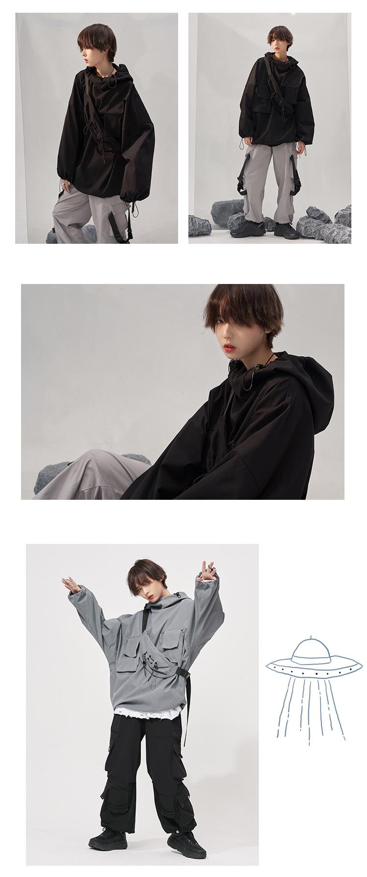 万有引力博物馆盐系卫衣女年秋季新款宽鬆套头上衣风外套详细照片