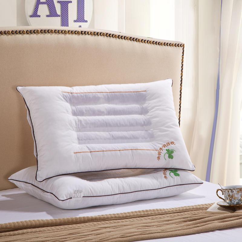 新品决明子明目枕头枕芯学生水立方波浪舒适珍珠棉成人护颈椎枕芯