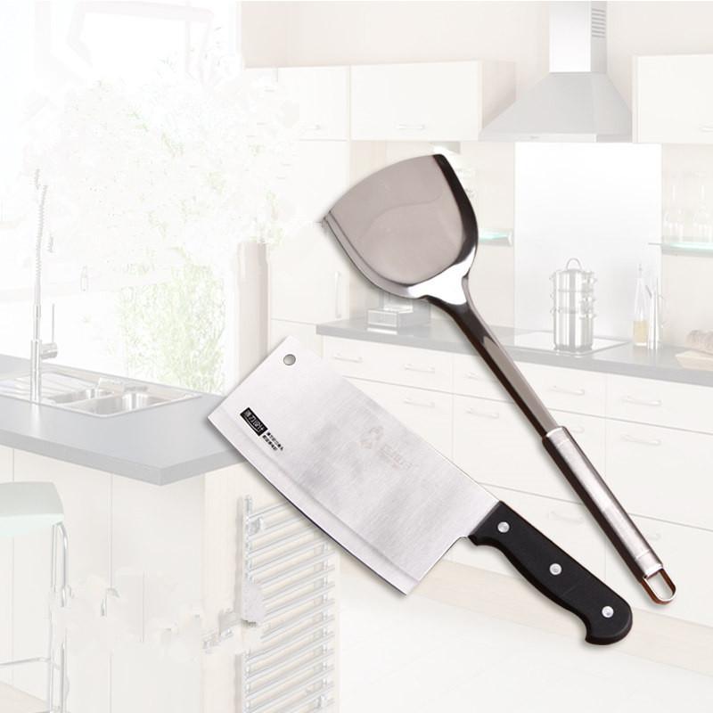 阳江巧媳妇不锈钢厨房刀具套装 锅铲 切片刀 削皮刀 剪刀厨房套装