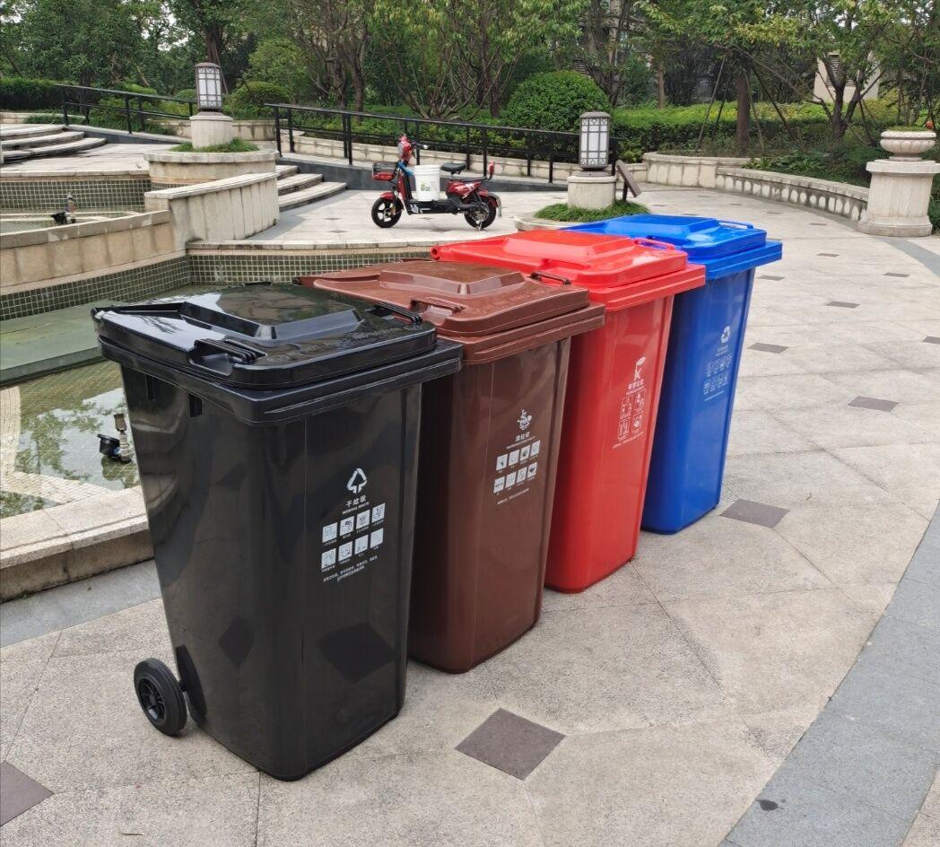 户外大号垃圾桶升环卫桶商用干湿分类社区物业室外带盖箱详细照片