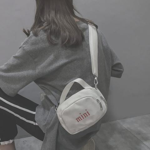 帆布小包包女2018新款潮韩版ins超火斜挎单肩百搭时尚honey蹦迪包