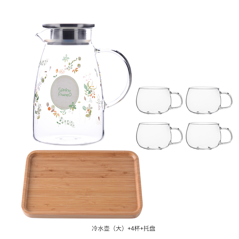 LARGE MUFENG KETTLE 2L+4* LARGE CUP + BAMBOO PLATE