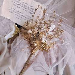 Scepter hand-made bride wedding Pinky hand holding PINKY22 wedding high-end custom 22 crystal flower